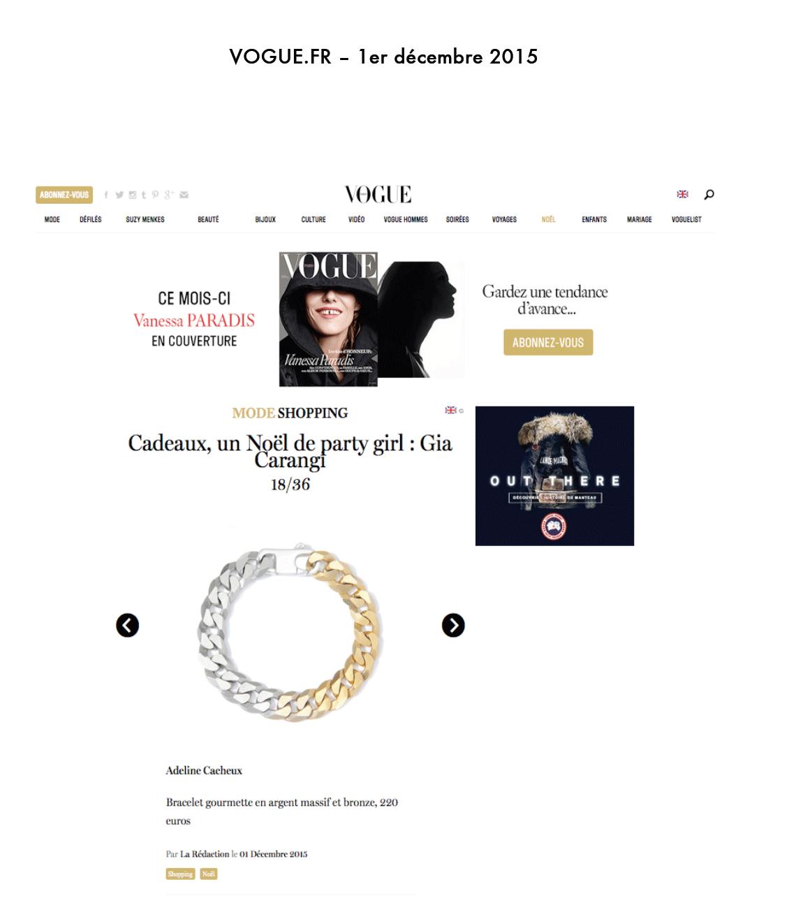 Adeline Cacheux Jewelry Design bracelet gourmette argent