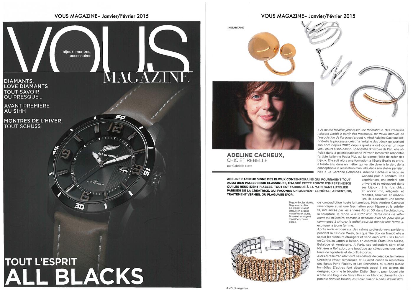 Adeline Cacheux Jewelry Design portrait adeline cacheux