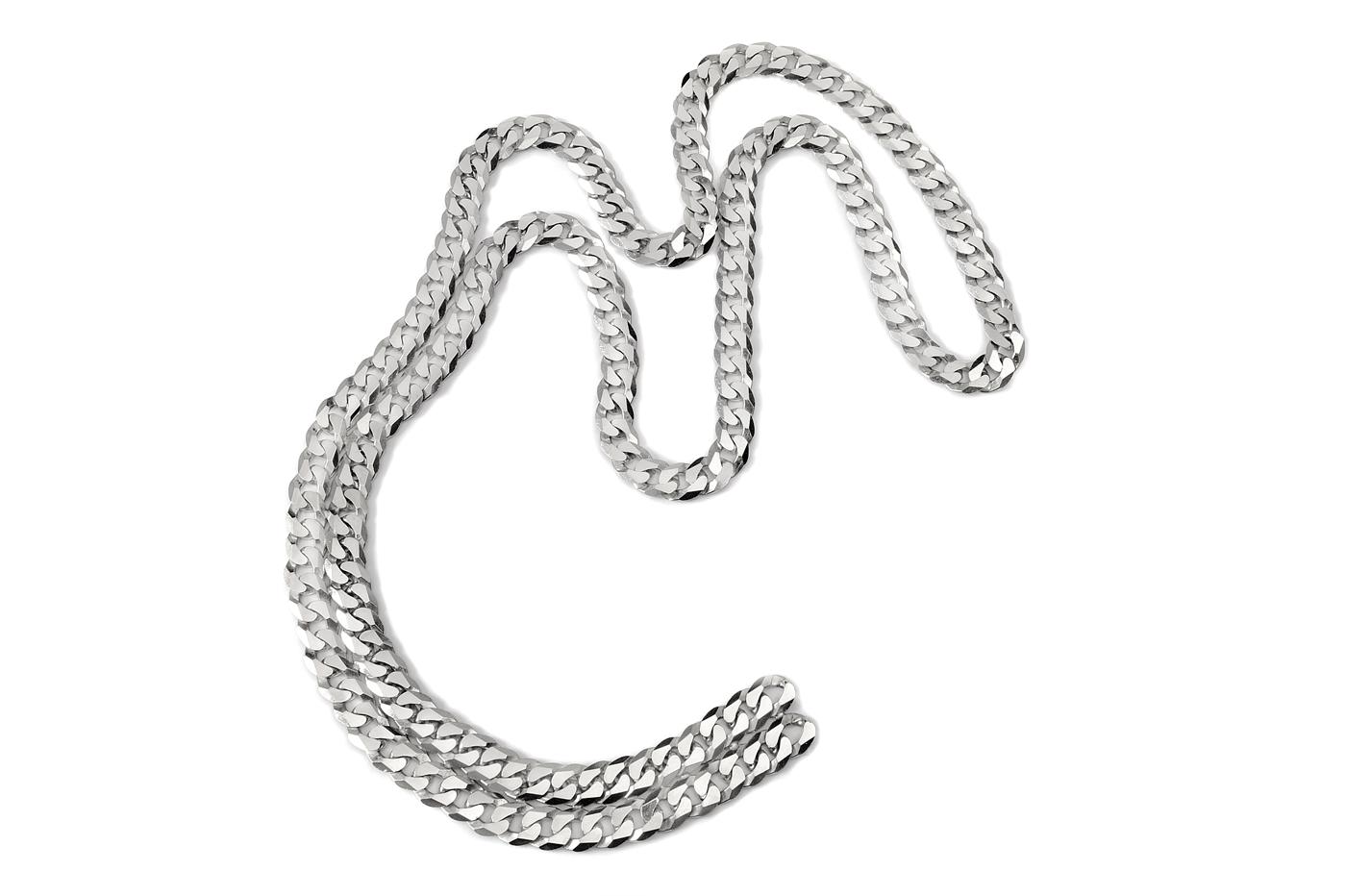 Adeline Cacheux Jewelry Design Sautoir Gourmette Argent