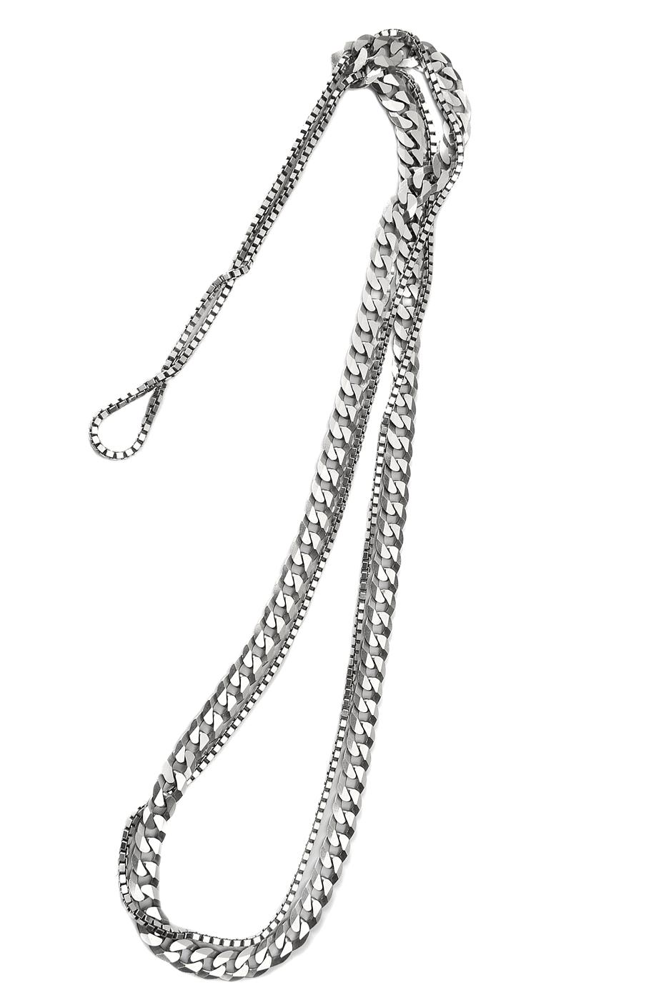 Adeline Cacheux Jewelry Design Sautoir Chaîne Gourmette Argent