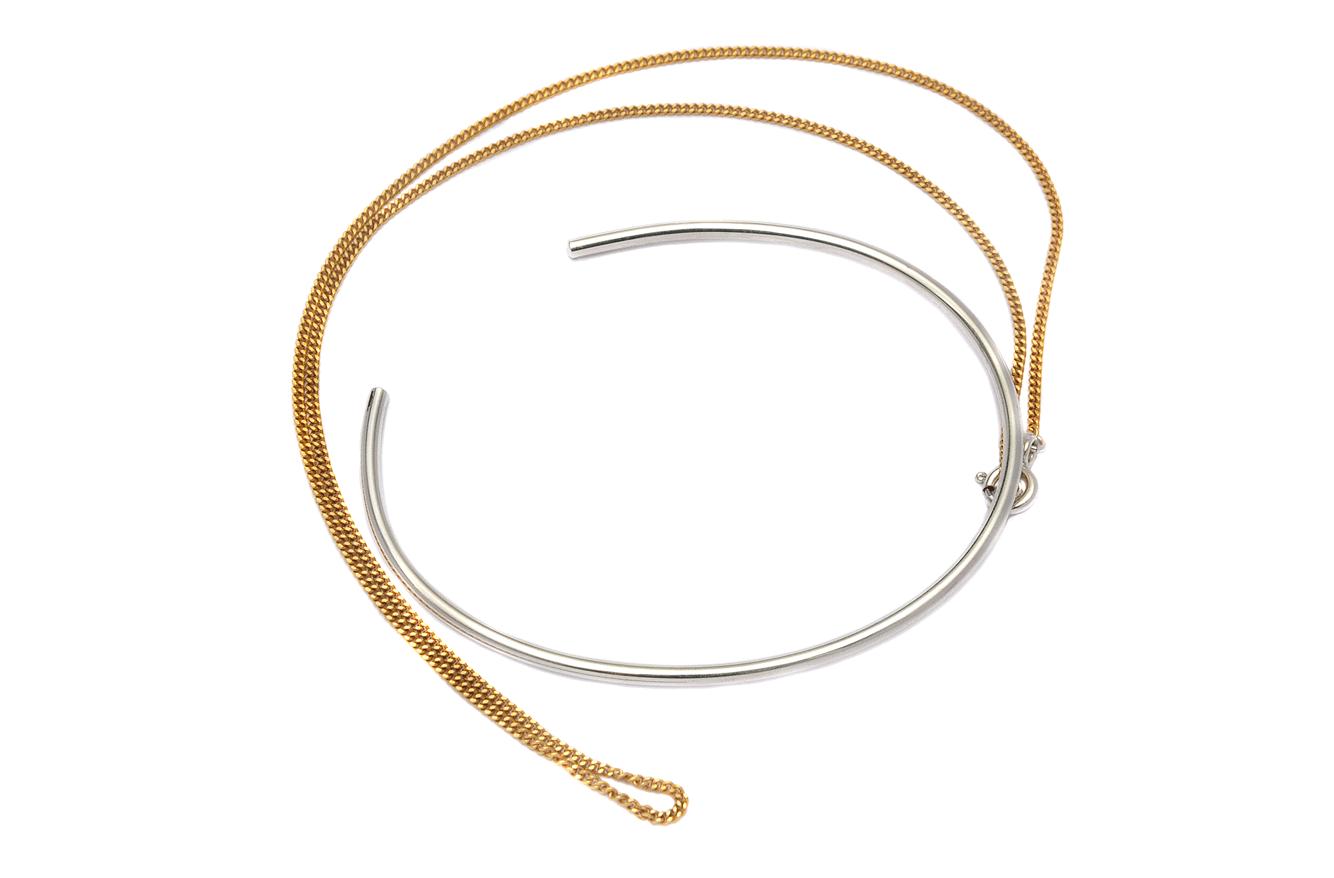 Adeline Cacheux Jewelry Design Jonc chaine dorée