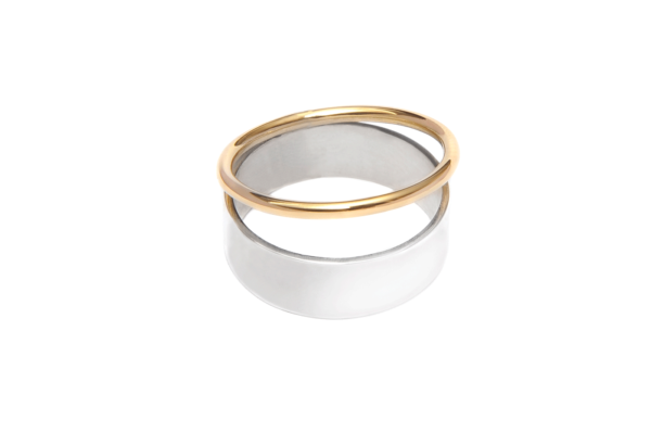 Adeline Cacheux Jewelry Design Bague anneau argent et or 18 carats ring sterling silver 18k gold