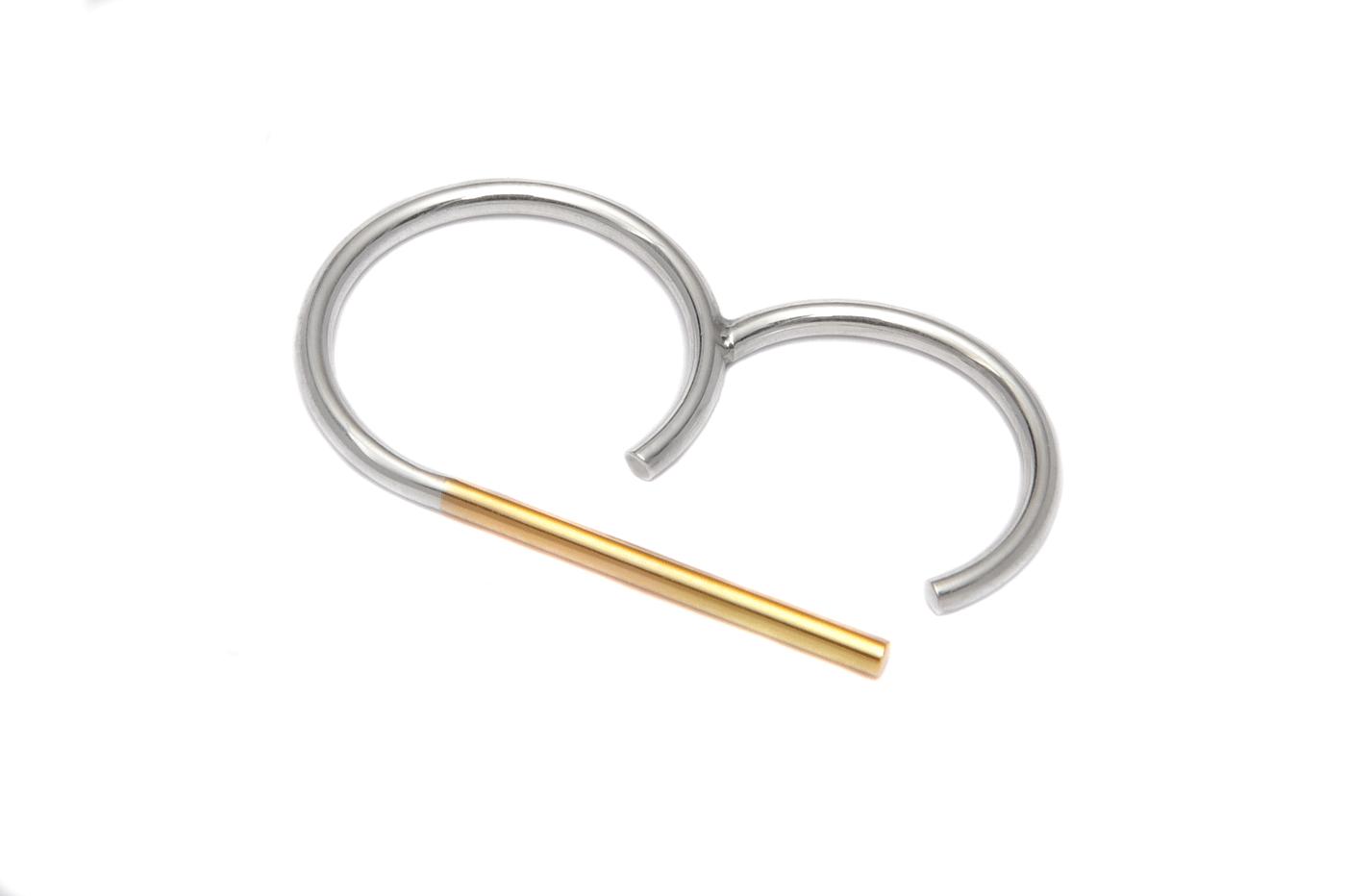 Adeline Cacheux Jewelry Design Bague Double Doigt Argent Or