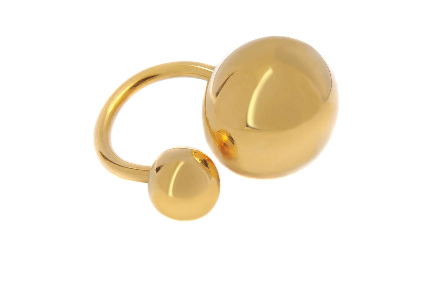 Adeline Cacheux Jewelry Design Bague plaqué or