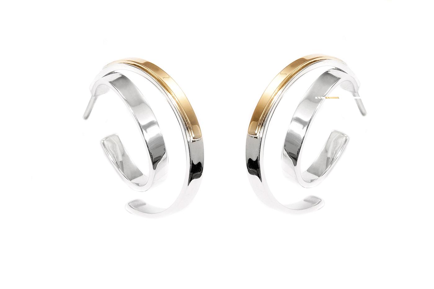 Adeline Cacheux Jewelry Design Créoles Argent Or 18 carats