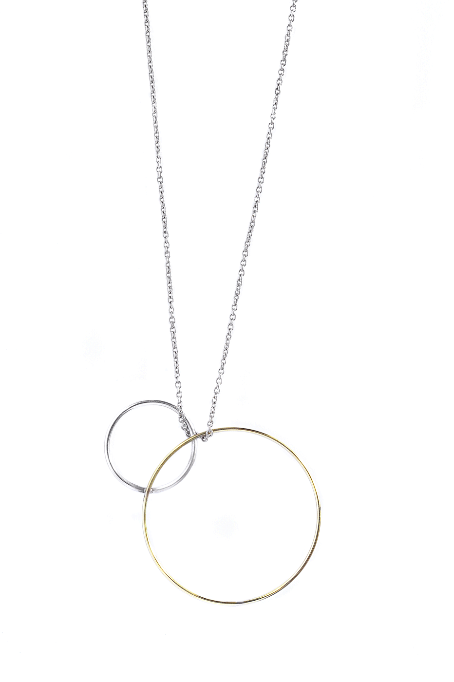 Adeline Cacheux Jewelry Design collier argent et or 18 carats necklace in sterling silver and 18k gold