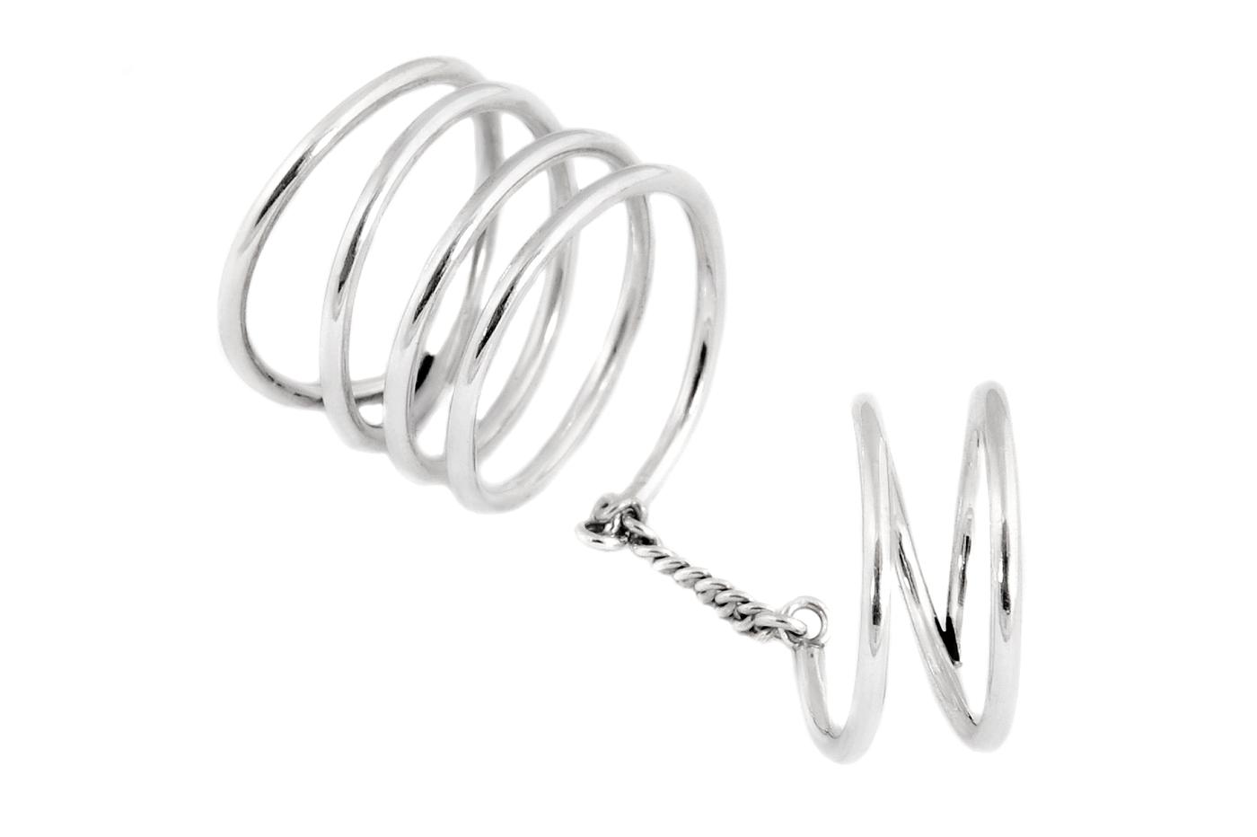Adeline Cacheux Jewelry Design Bague Double Phalange Argent