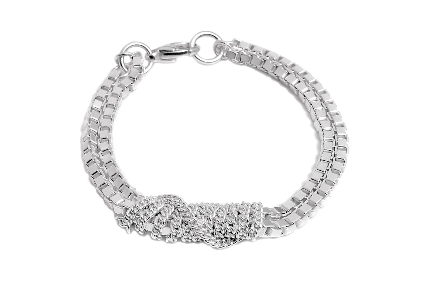 Adeline Cacheux Jewelry Design Bracelet Chaîne Argent