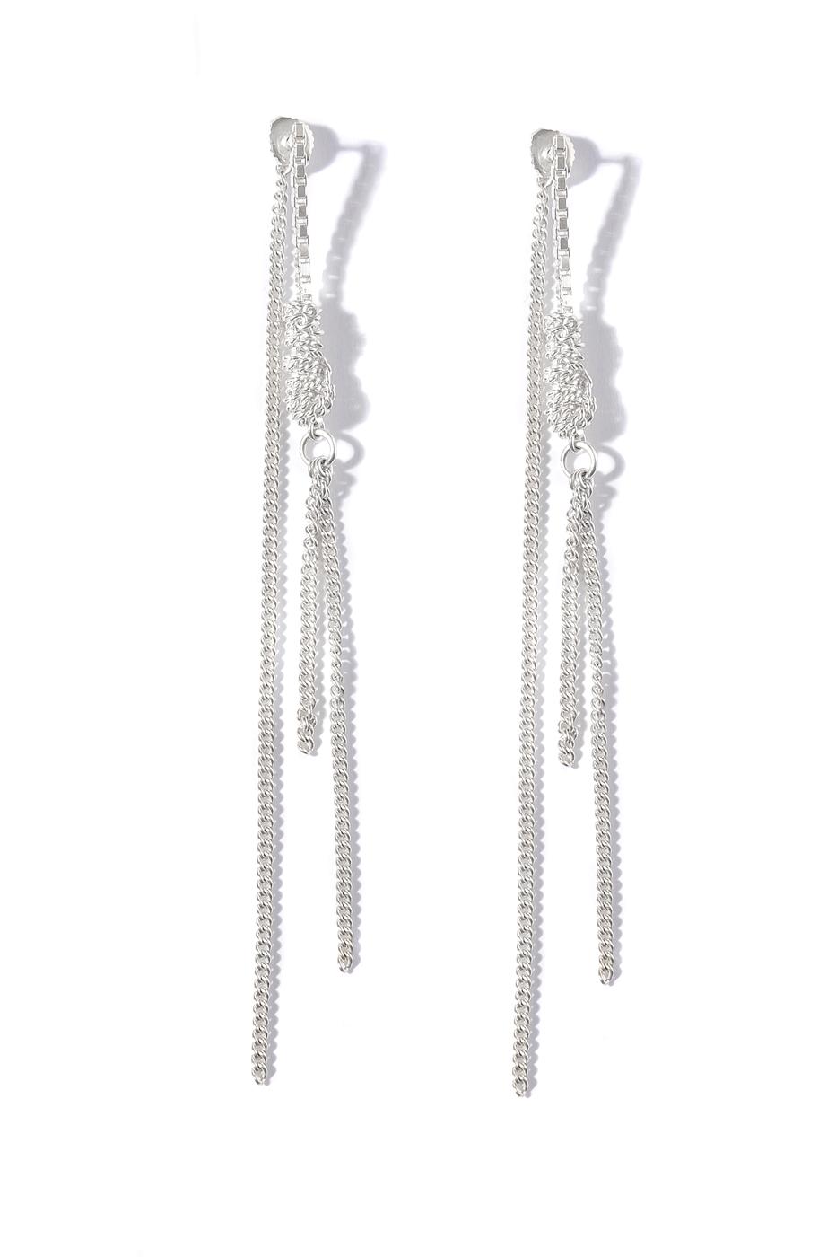 Adeline Cacheux Jewelry Design Boucles d'oreilles chaînes argent Drop earring silver