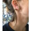 Boucle d'oreille en laiton doré vogue adeline cacheux