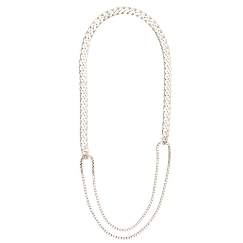 adeline cacheux chaine gourmette curb chain mix chain