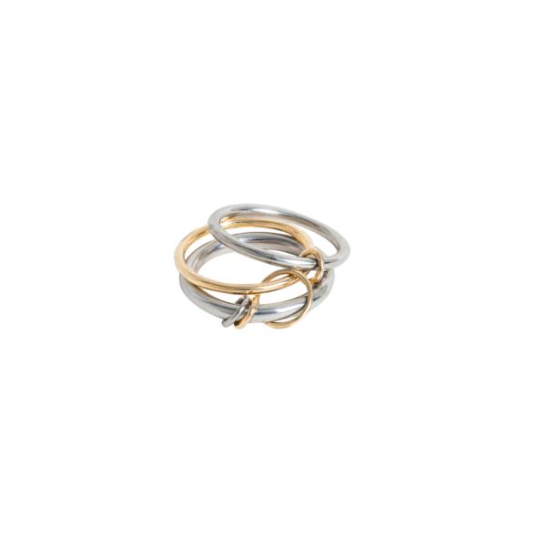 bague anneaux argent or