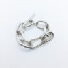 bracelet à chaine épaisse en argent massif