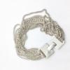 Bracelet multi-rangs en argent massif