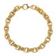 Collier chaîne en laiton doré 24 carats