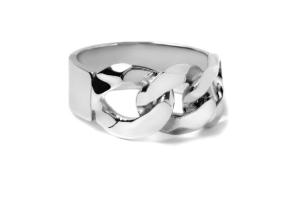 bague gourmette chain ring