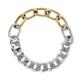 bracelet chaînes bicolore